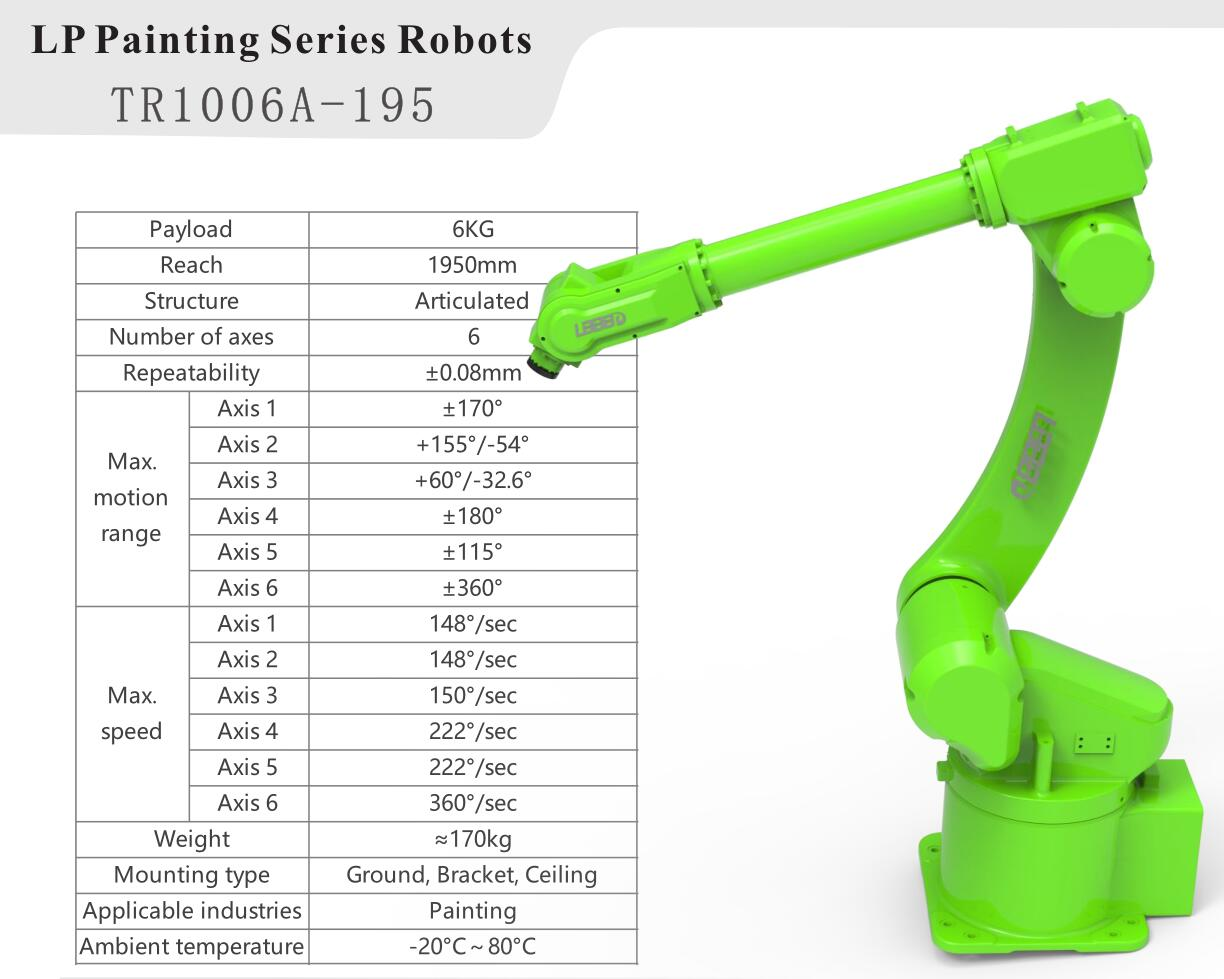 Payload 6kg 6 Axis Robot Arm