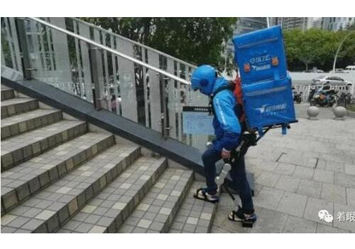 China Exoskeleton Robot applied to Takeaway Staffs
